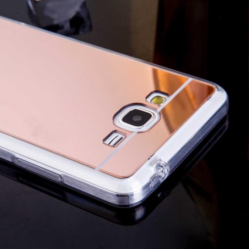 Capinhas de telefone akabeila para samsung galaxy grand prime g531f g530 g531h caso tpu espelho g5308 g5300 g530h cobre a pele traseira