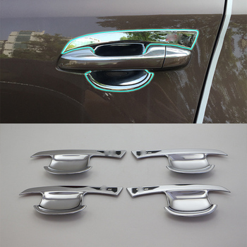 Car Accessories Exterior ABS Chrome Door Handle Bowl Cover Trims 4pcs For Kia KX5/Sportage 2016 Car Styling
