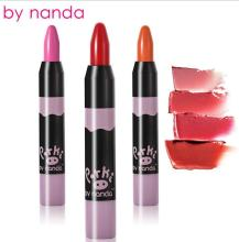 New Arrival brand by nanda beauty sexy lipstick waterproof long lasting lips cosmetics lipgloss maquiagem red batom