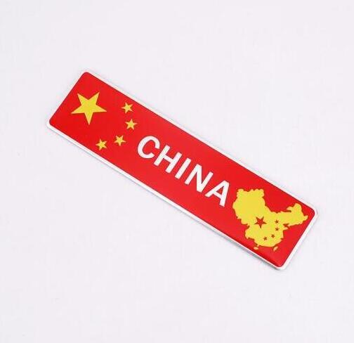 High Quality 1pcs 103x27mm Chinese flag Aluminum Alloy Badge Emblem car sticker China flag