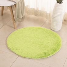 Fluffy Round Rug Carpets for Living Room Decor Faux Fur Carpet Kids Long Plush Rugs Bedroom Shaggy Area Modern Mat
