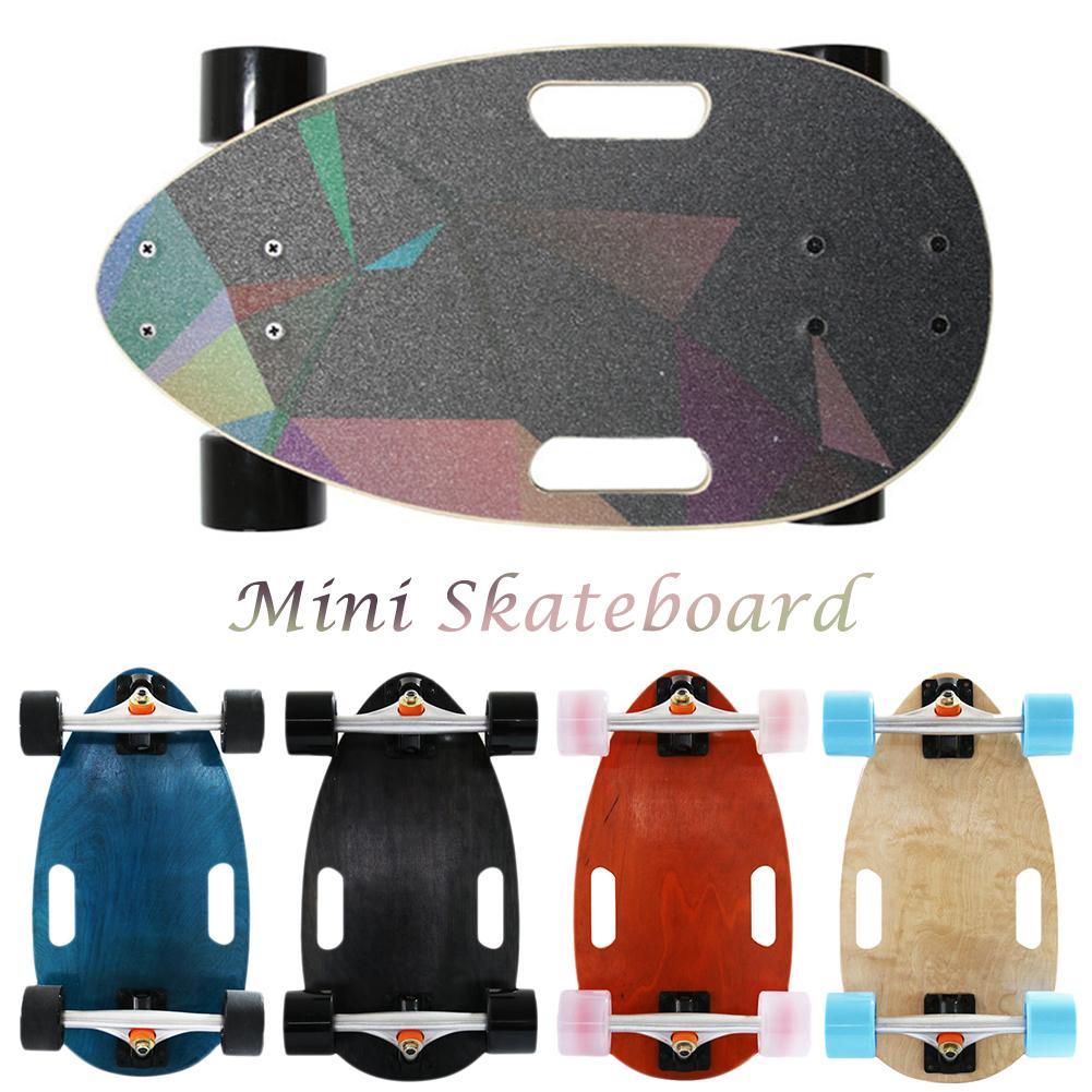 Haute qualité Portable planche à roulettes route adulte enfants quatre roues Mini planche à roulettes érable bois Cruiser planche à roulettes pont complet