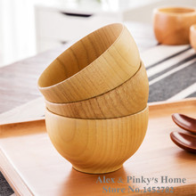 Japanese Tableware Eco-Friendly Birch Wooden Bowls Household Kitchen Salad Bowl Rice Soup Bowl Kitchen Bowl