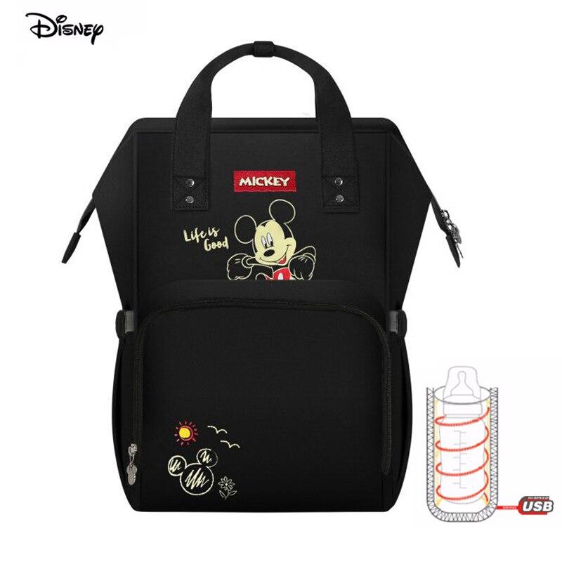Disney bébé cartoon Mickey sac maman poussette colorland sac à dos couche soin biberon isolation voyage sacs 20-35L sac à couches humide