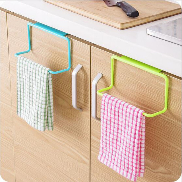 1pc Over Door Towel Holder Rack Rail Cabinet Cupboard Hanger Bar Hook Bathroom Kitchen Home Top