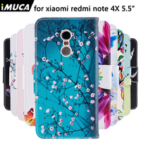 For Xiaomi Redmi 4 X Cases Cover Colorful Magntic Flip Wallet PU Leather For Xiaomi Redmi