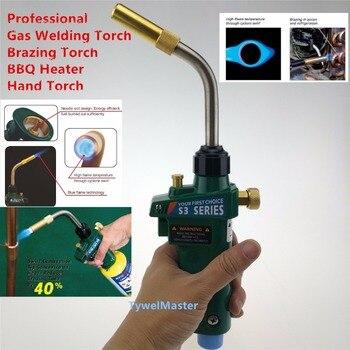 Schweißlöten Taschenlampe MAPP Propan Gas Taschenlampe Selbst Zündung w Trigger Stil CGA600 Heizung Solder Brenner