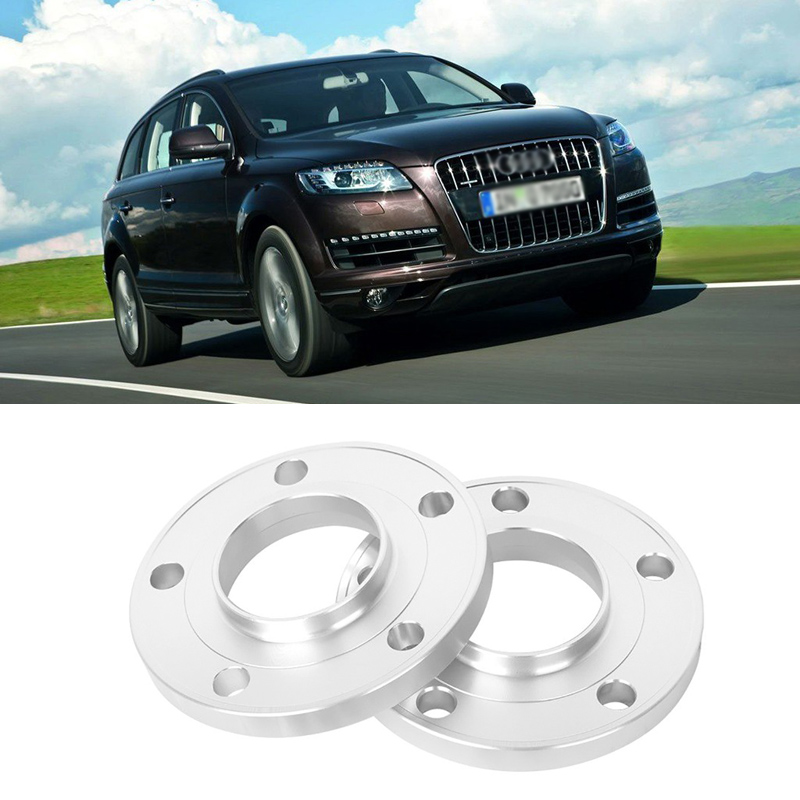 2PCS 5x130 71.6CB Aluminum Centric Wheel Spacers Tire Adapters Rims Flange Hubs For Audi Q7 2006-2014 teeze 4pcs new billet 5 lug 14 1 5 studs wheel spacers adapters for audi q7 2006 2014