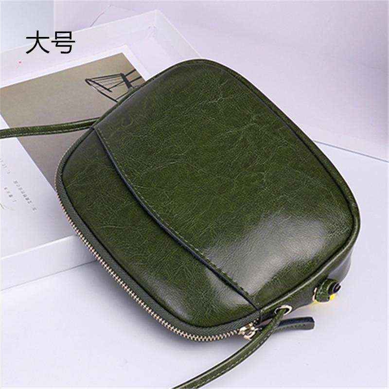 2019 Women's Leather Handbag Split Leather Women's Leather Satchel Mini Bag Single Straps Shoulder Bag New Arrival
