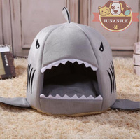 Shark Dogs House Pet Dog Beds for Small Nest Cat Dog Bed Covers Cute Kennel French Bulldog Yorkshire Terrier Sleeping Bag Fossa