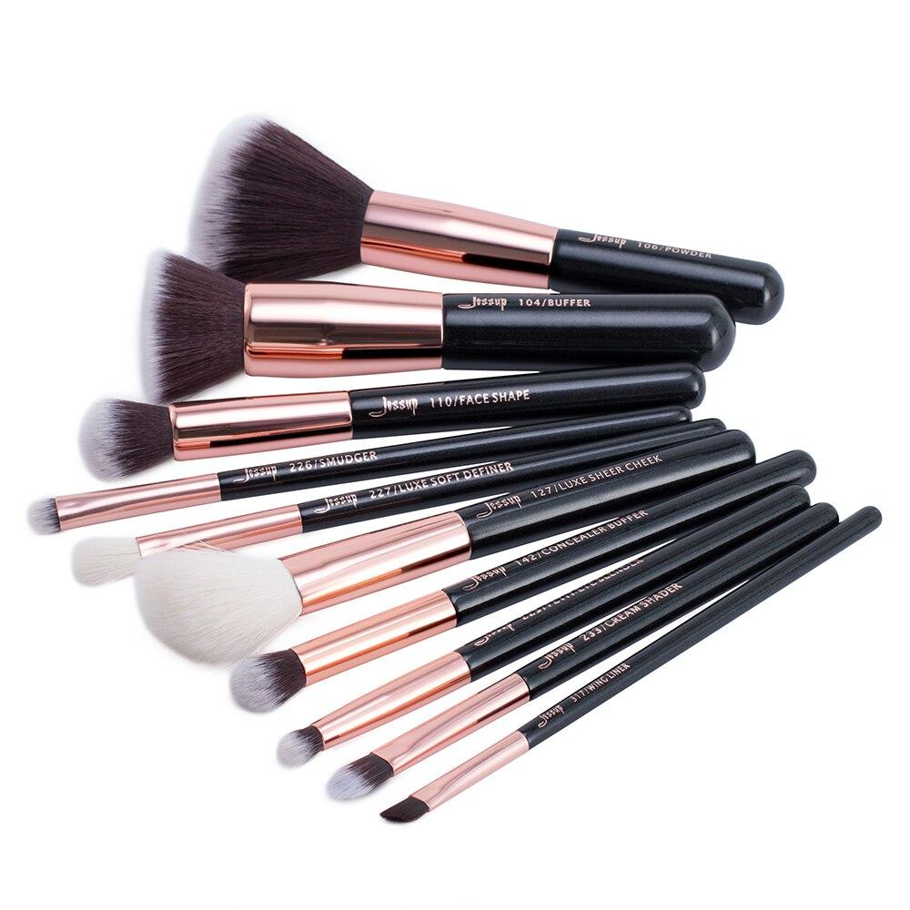 Tesoura de Maquiagem de ouro/preto makeup brushes set Country of Origin : Shenzhen, China (mainland)
