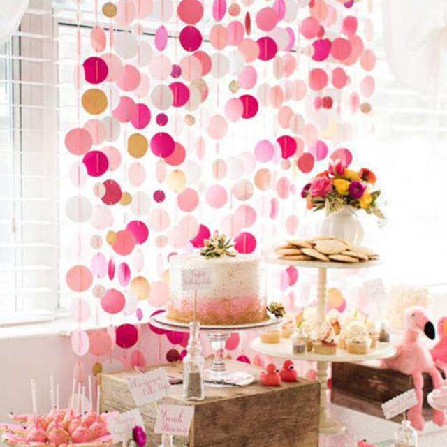 Glitter Paper Birthday Party Hanging Bunting Banner Flag Baby Shower