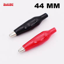 Alligator-Clip Probe-Meter Electrical-Clamp Testing Crocodile Metal FOR 44MM Black And
