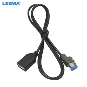 Image 1 - LEEWA 15 ADET Araba Ses Dişi USB AUX Giriş Kablosu Adaptörü 4Pin Konektörü Subaru Forester XV/Outback /Legacy #5662
