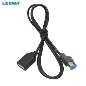 Image 1 - LEEWA 15 יחידות רכב אודיו נקבה USB AUX בכבלים מתאם 4Pin מחבר עבור סובארו פורסטר XV/אאוטבק /Legacy #5662