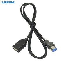 LEEWA 15 piezas de Audio de coche USB hembra AUX En adaptador de Cable 4Pin conector para Subaru Forester XV/interior /Herencia #5662