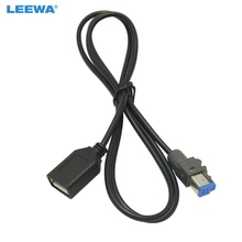 LEEWA 15 stks Auto Audio Vrouwelijke USB AUX In Kabel Adapter 4Pin Connector Voor Subaru Forester XV/Outback /Legacy #5662
