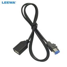محول كابل USB AUX In أنثى صوتي للسيارة 15 قطعة من LEEWA موصل 4Pin لسيارة سوبارو فورستر XV/خارجي/ليجاسي #5662