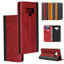LUCKBUY For Galaxy Note9 Color Matching Leather Luxury Premium Phone Cases for Samsung Note 9 Slim Business Wallet