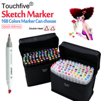 Touchfive 30 40 60 80 Colors Pen Marker Set Dual Head Sketch Markers Brush Pen For