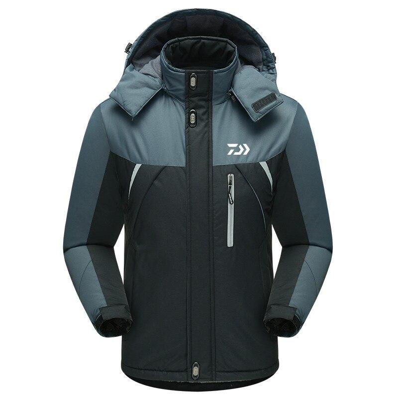 Daiwa Ski Jacket Outdoor Sports Warm Coat Winter Windproof Fishing Clothing Plus Waterproof Fleece Snow Jacket