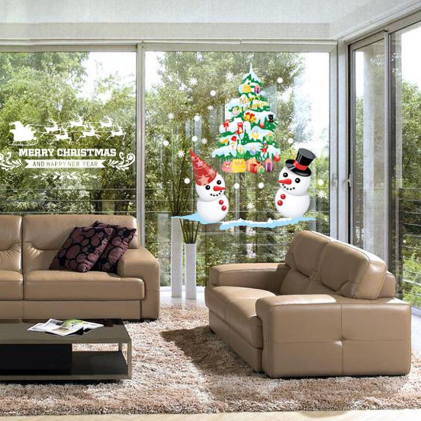 Merry Christmas Xmas PVC Removable Display Window Showcase ...
