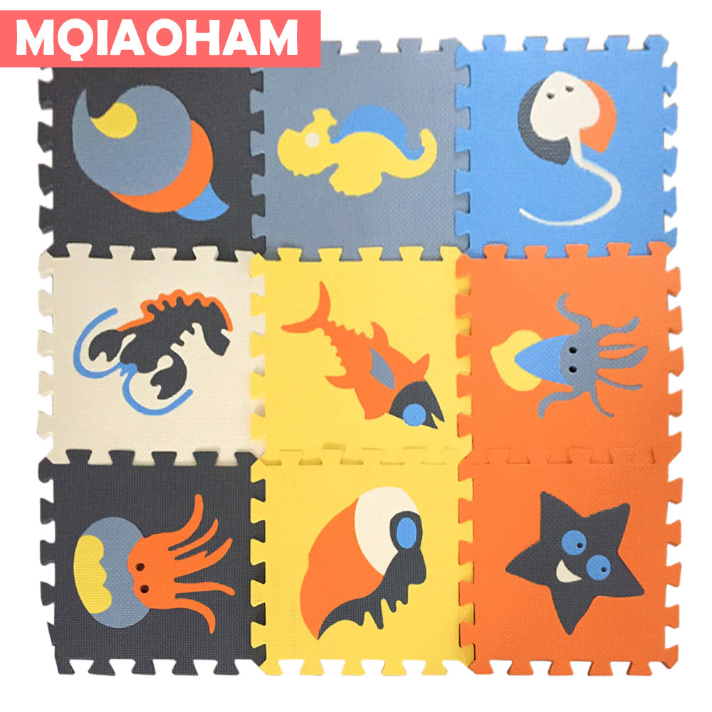 9 Pcs/Lot Baby EVA Foam Puzzle Playmat Children Puzzles Kids Rug Interlocking Exercise Floor Gaming Mat Infant Carpet Speelmat