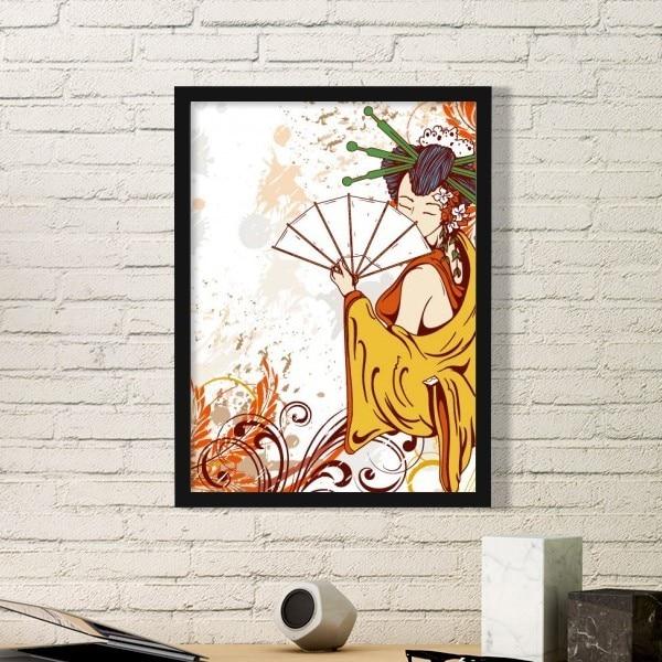 Japan Culture Girl Japanese Style Cranes Sakura Cloud Illustration ...