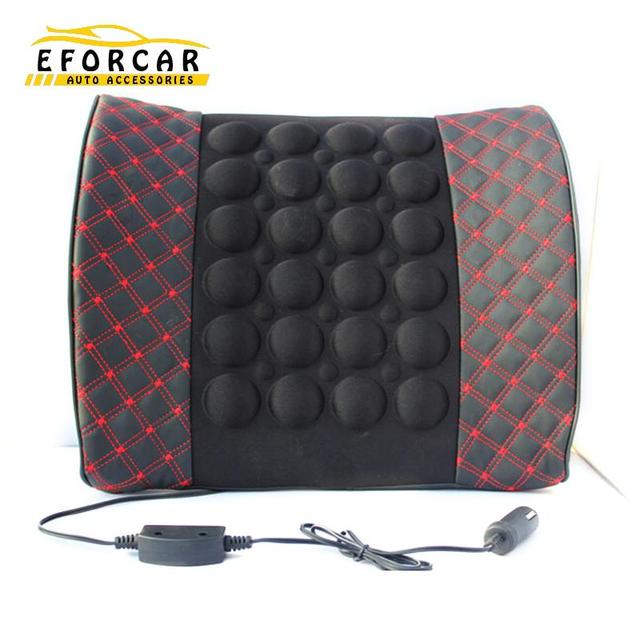 High Quality Car Office Motor Lumbar Waist Massage Cushion Back Seat Rest Car Styling Motor Lumbar Cushion Free Shipping EA1069