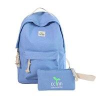 Teenage Backpacks Girls Canvas Backpack Leisure Student Feminine Backpack Female School Bagpack Girl Mochila Femininal