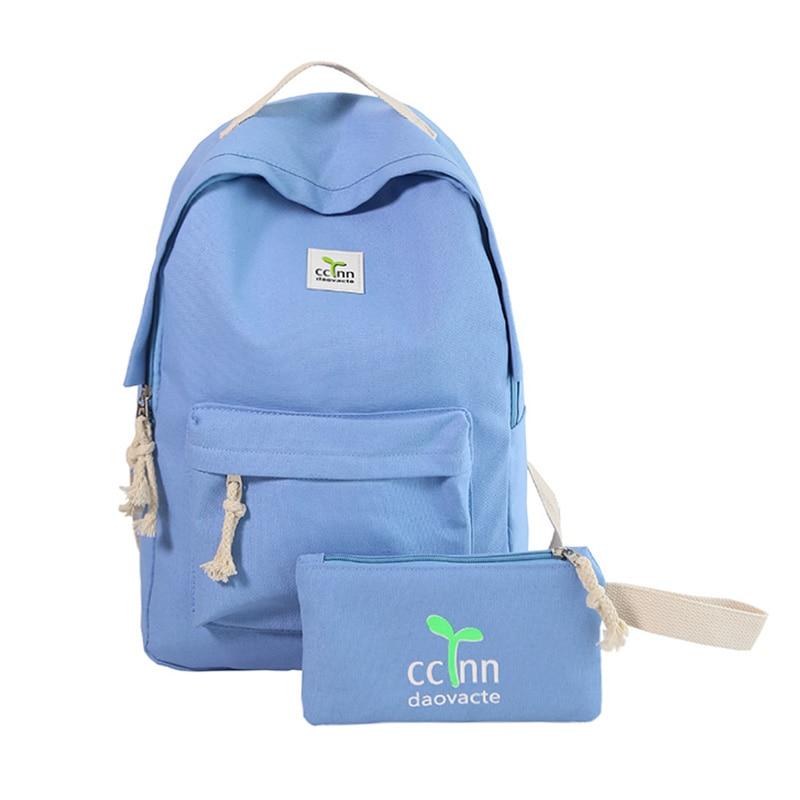 Teenage Backpacks Girls Canvas Backpack Leisure Student Feminine Backpack Female School Bagpack Girl Mochila Femininal nbxq05