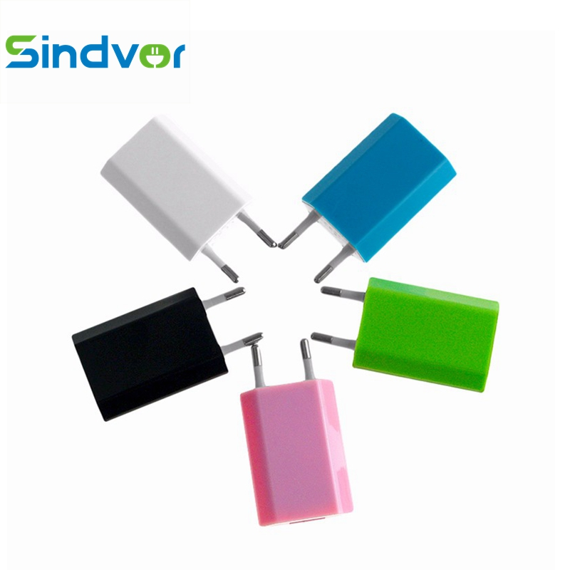 Sindvor Mini Universal EU Plug Travel USB Wall Charger Mobile phone Charger Adapter for iPhone Xiaomi lightning micro USB type-c