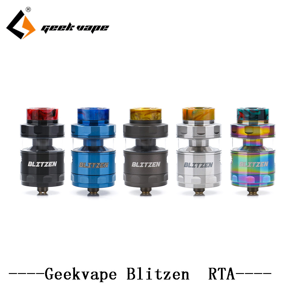 цена на 2PCS GeekVape RTA Geekvape Blitzen RTA electronic cigarette atomizer postless build deck smooth airflow as geekvape ammit