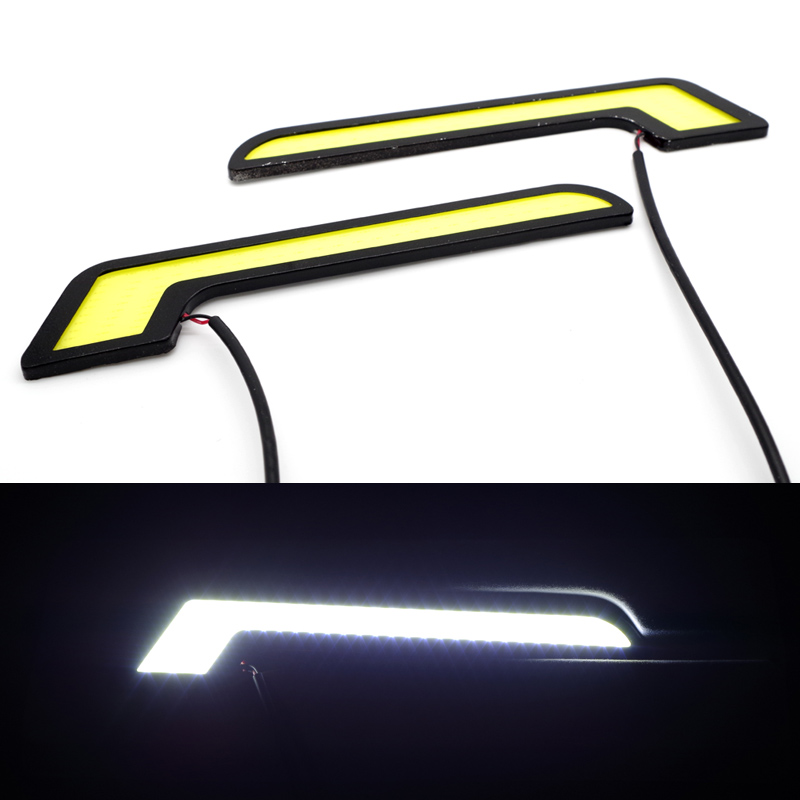 YUMSEEN 2PCS/Set COB drl led 16cm 12V 6W Bright White Car Daytime Running Light Waterproof Car Styling For passat b6 Audi a3 a4