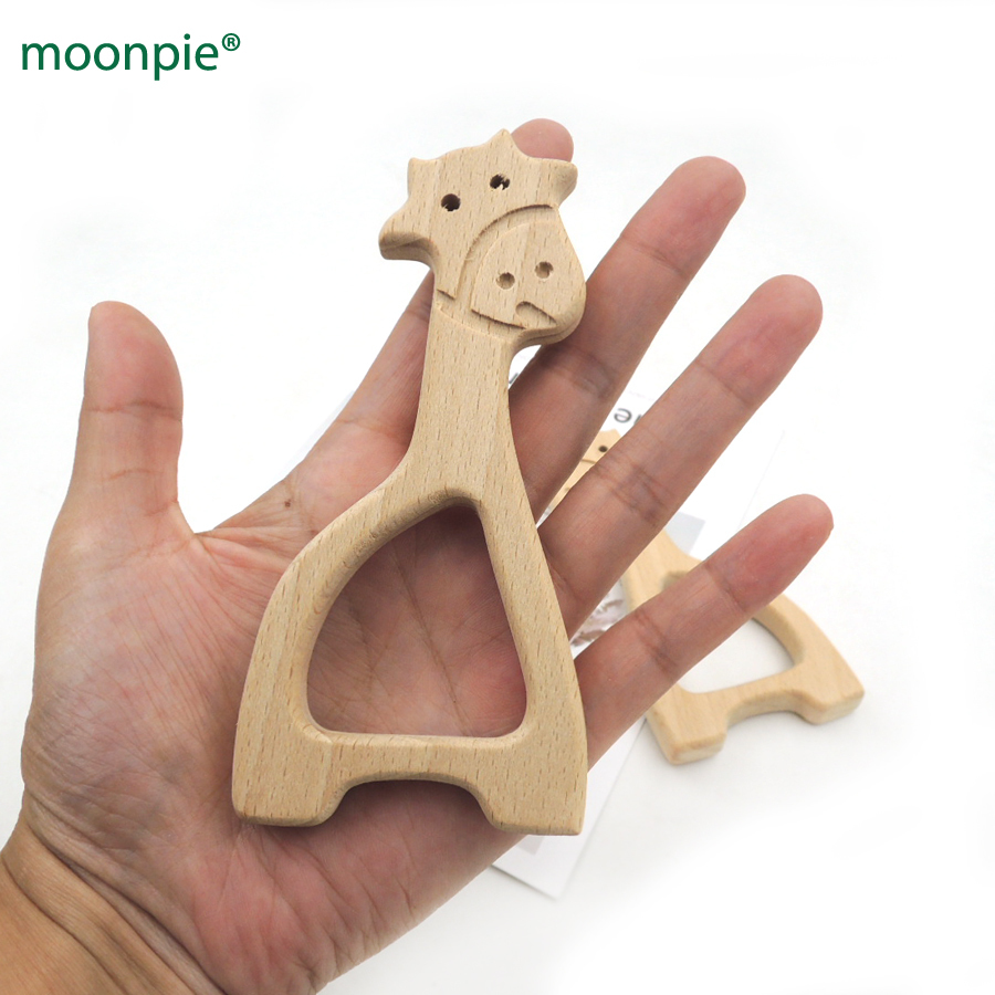 Mother & Kids Baby Teethers 20pcs X Diy Organic Beech Giraffe Teether Nursing Baby Bath Toy Diy Fitting Handcrafted Finding Baby Boy Gift Ea330c Superior Performance