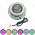 1Pc Universal Like Bixenon Hi/Lo Beam Projector Lens Headlight with Double Angel Eyes Demon Eye for Motorcycle LED Fog Light