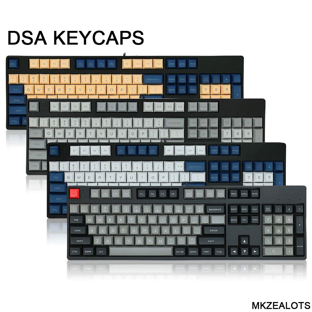 Топ с принтом dsa pbt клавиши для механической клавиатуры 108 ключи iso ключи полный набор dolch колпачки для Corsair Keycap Filco minila