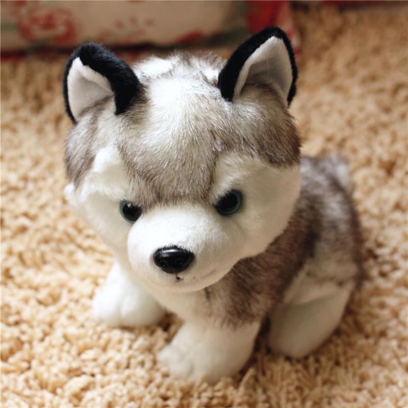18 CM To 25 CM Simulation Dog Plush Toy Lovely Husky Soft Stuffed Dolls Best Birthday Gifts For Children And Kids