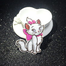 Pulaqi Cartoon Marie Cat patch For Clothing Sticker Iron On Patches Clothes Applique Stripe DIY Badge F