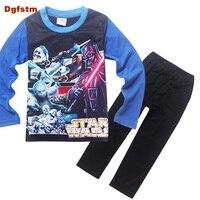 Marka Chłopcy Sleepwear Ubrania Dzieci Star Wars Piżamy Ubrania Dla Dzieci Zestaw Baby Boy Cartoon Pijamas Dzieci Wiosna Jesień Piżamy
