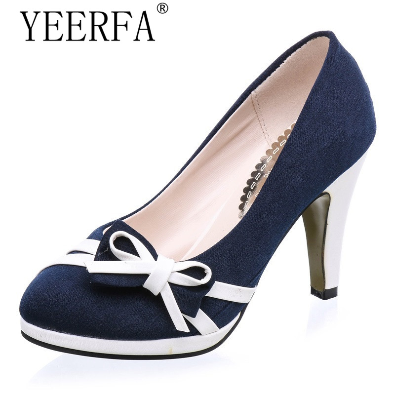 TEERFA High Heels Women Shoes White and Black Women Pumps 10 CM Ladies High Heels Shoes Woman zapatos mujer tacon size 35-39 size 4 9 summer black women shoes elegant white flower high heels shoes cross women pumps zapatos mujer check foot length