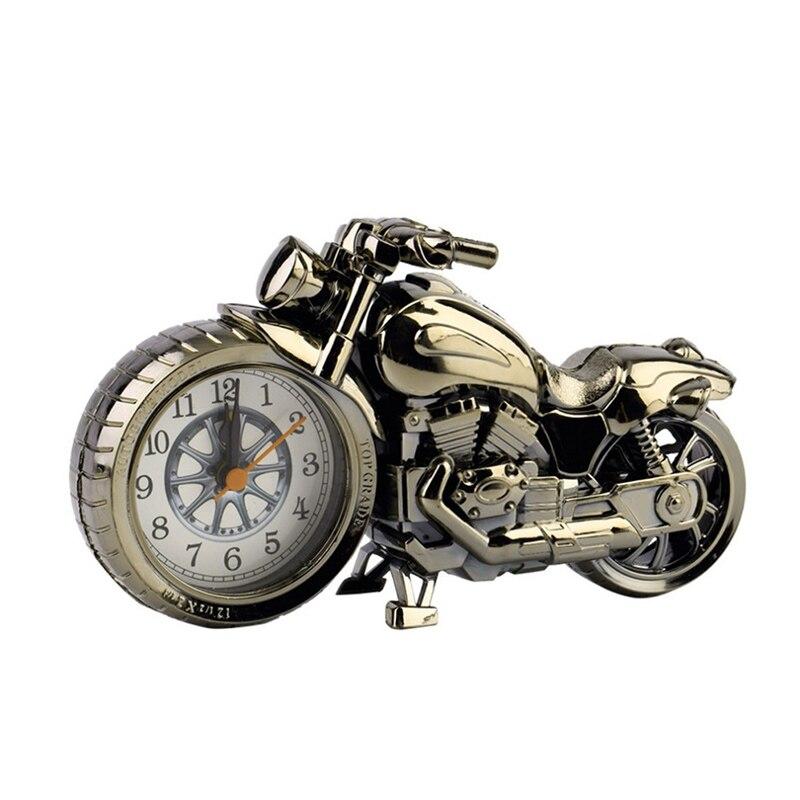 Motorcycle Alarm Clock Quartz Movement Clocks Creative Pocket Watch Alloy Case Vintage Decorating Clocks Houseware Jewelry Men clocks