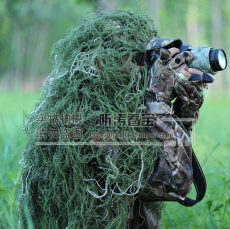 Outdoor 80*90cm Military Jungle Camouflage Hat Hunting Cap