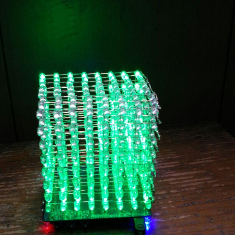 Electronic assembly kits  soldering kits mini  8*8*8 LED Cube 3 mm LED 8 0