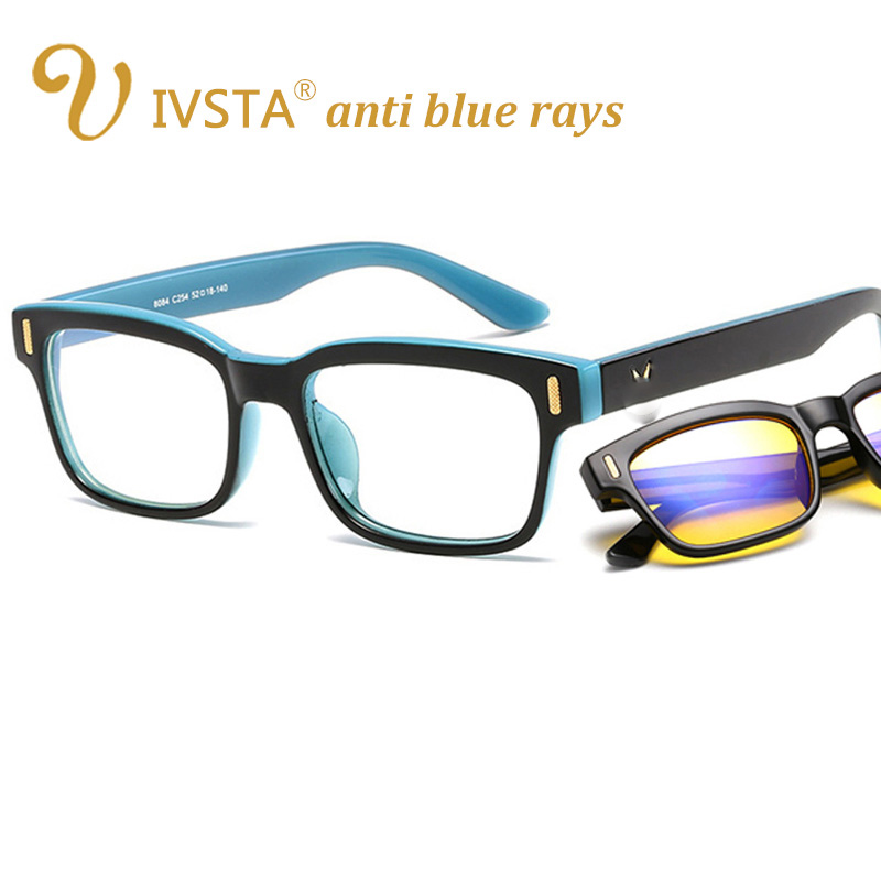 IVSTA anti azul rayos gafas de equipo hombres luz azul recubrimiento Gaming gafas para la protección de la computadora ojo Retro gafas 8084 V
