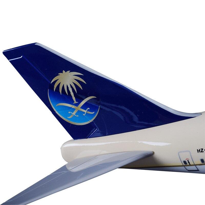 47 cm B747-400 Saudi Arabian Airways modelo de aviación de resina - Vehículos de juguete para niños - foto 5