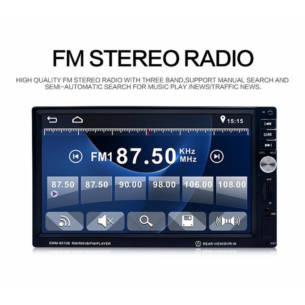 Car 7'' inch LCD Touch Screen Car Radio Autoradio 2 Din Player Bluetooth Car Audio Support rear camera