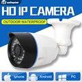 HD 720 P 1.0MP Cámara Bullet IP Onvif Exterior Nocturna Por INFRARROJOS 2mp 1080 p cámara de seguridad cctv visión h.265 android iphone xmeye unitoptek