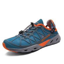 Summer Mens Casual Shoes Rubber Sole Unisex Hiking 2019 New Design Non-Slip Sports Outdoor Quick-Drying Water