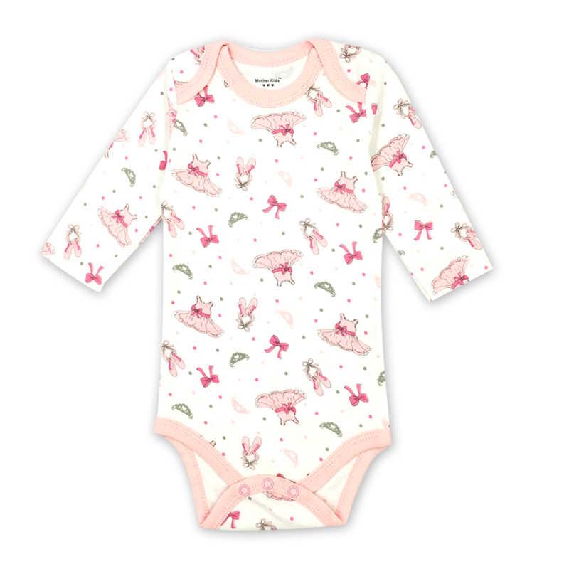 ddbea3179f408 Newborn Baby Girls Clothes Long Sleeve Romper 100%cotton Cartoon ...